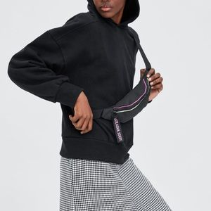 Zara sweatshirt with belt bag